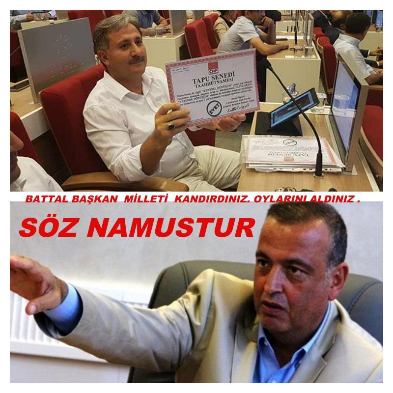 Ataşehir Belediye Başkanı Battal İlgezdi Yeni Çamlıca Mahallesine verdiği tapu sözünü tutsun!