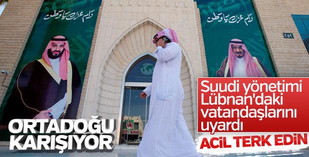 Acil Kodla Suudi Arabistan'dan vatandaşlarına Lübnan çağrısı