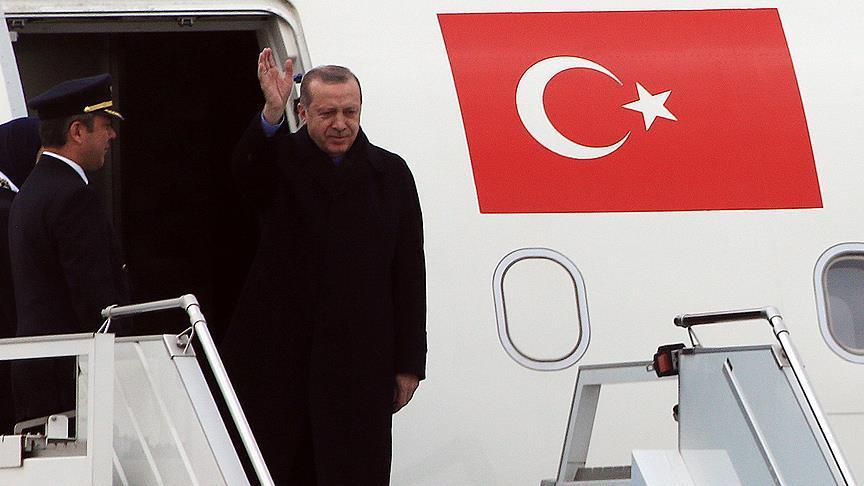 Cumhurbaşkanı Erdoğan Suriye Zirvesi için Soçi'ye gitti