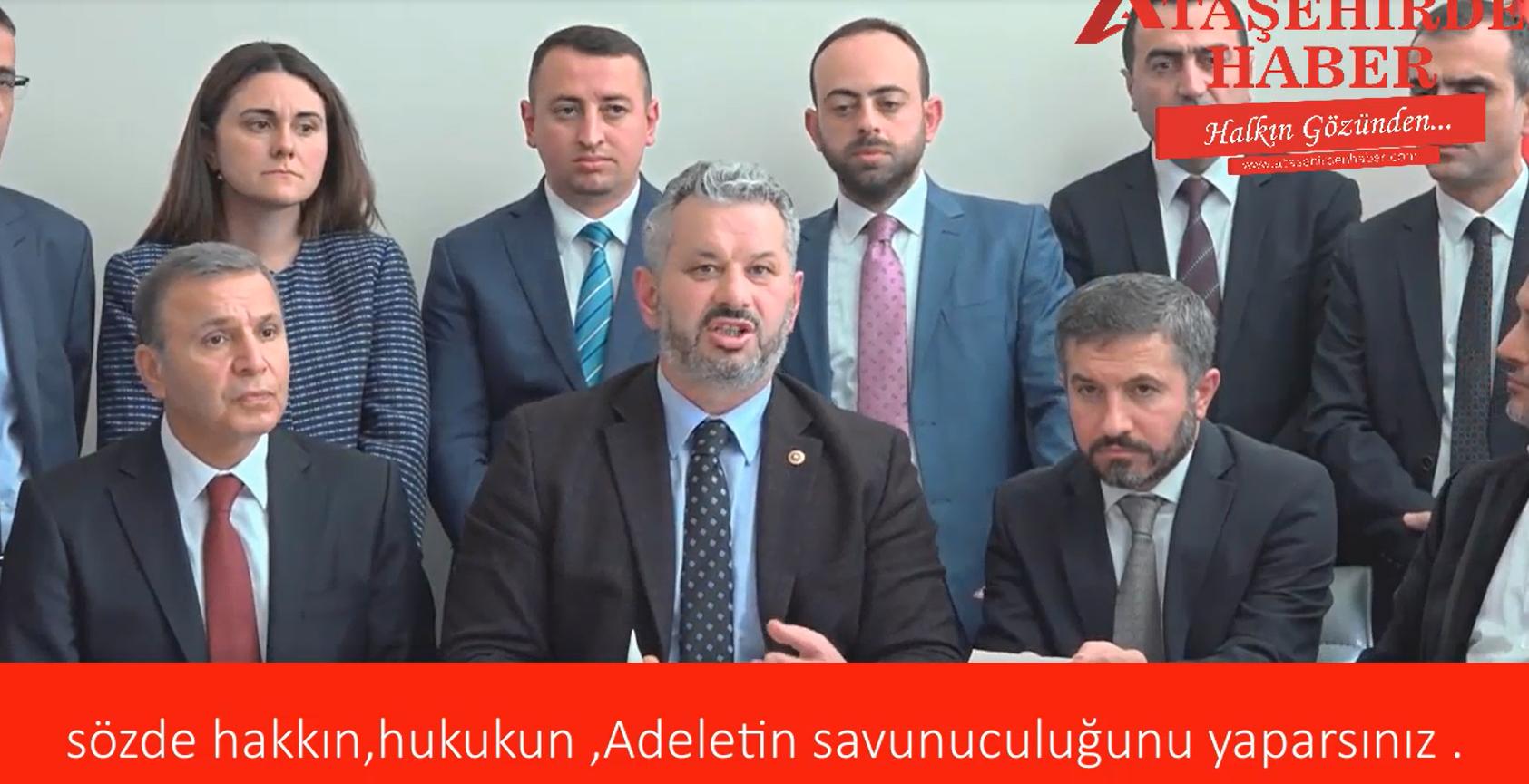 Chp'li Üyeler Ataşehirde Ak parti Belediye Başkan Adayının konuşmasına tahammül edemediler .