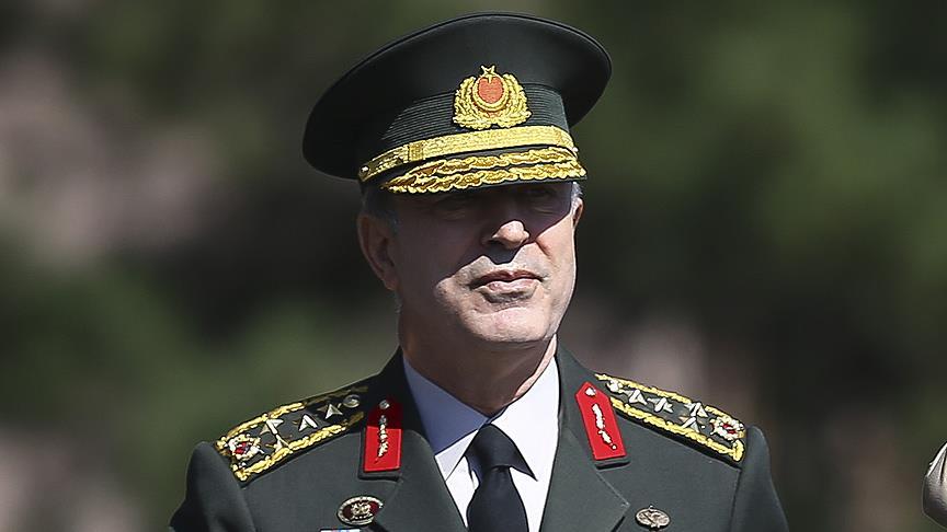 Genelkurmay Başkanı Orgeneral Akar: YPG'nin desteklenmesine müsaade etmeyeceğiz