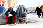 Moskova'daki evsizler dondurucu soğukta hayat mücadelesi veriyor