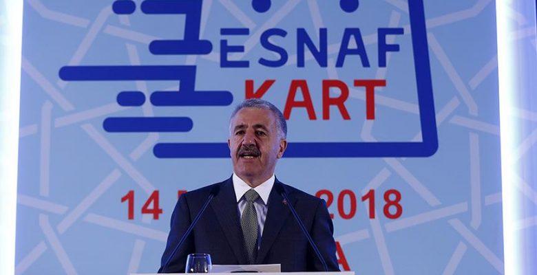 Ulaştırma, Denizcilik ve Haberleşme Bakanı Arslan: Esnaf Kartla esnafın ekonomiye katkısı artacak