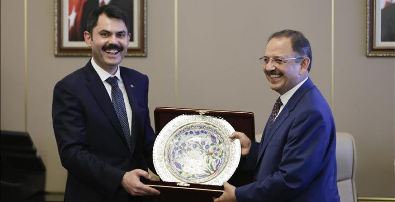 Murat Kurum, görevi Mehmet Özhaseki'den devraldı