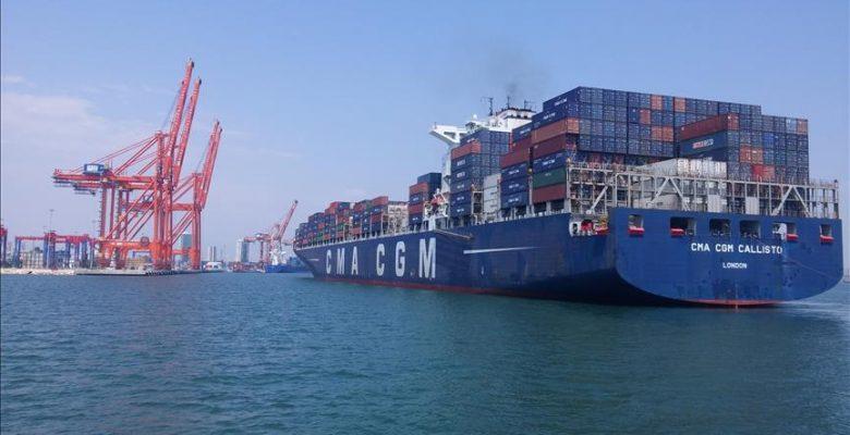 'Mersin Limanı konteyner işlem hacmiyle ilk sıraya yükseldi'.
