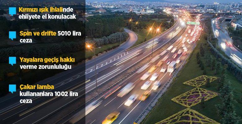 Trafik cezalarının artırılmasını öngören teklif TBMM Genel Kurulunda kabul edildi.