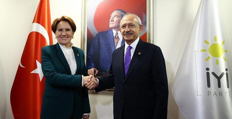 Kılıçdaroğlu, Akşener ile görüştü.
