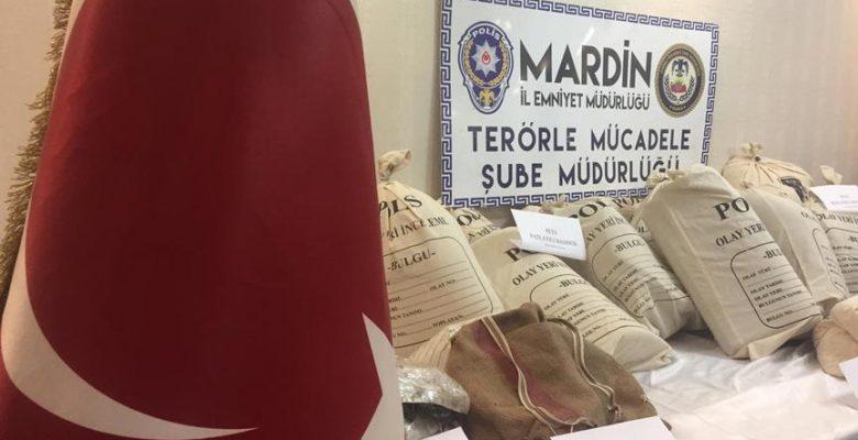 Mardin'de patlayıcı yüklü araç ele geçirildi.