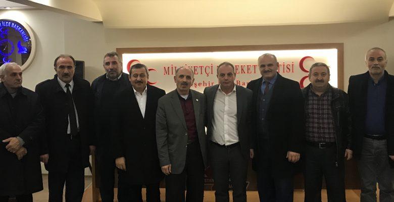 Milliyetçi Hareket Partisi Ataşehir İlçe Başkanı M.Sadun BİZEL'e Muhtar ve Derneklerden Ziyaret…