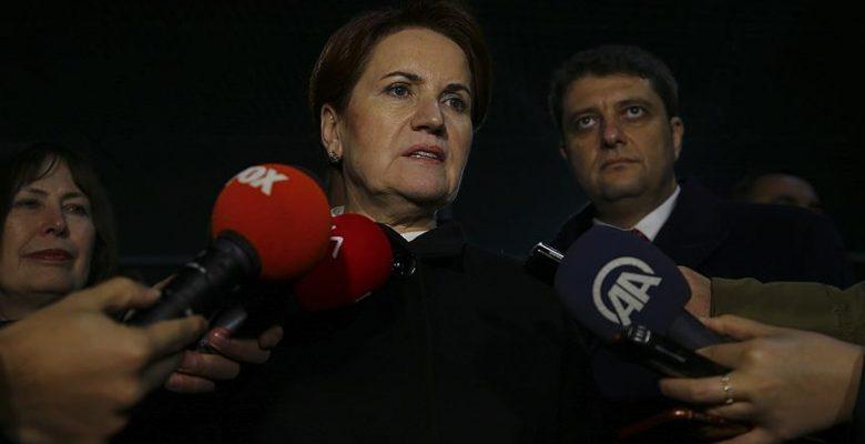 İYİ Parti Genel Başkanı Akşener: Ankara'yı illa 'İYİ Parti alsın' diye bir tavrımız yok.