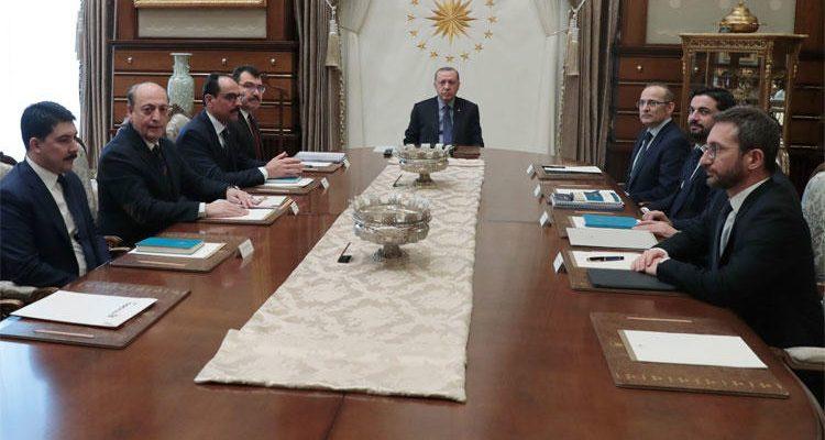 Cumhurbaşkanlığı Politika Kurullarının başkanvekilleri toplandı.