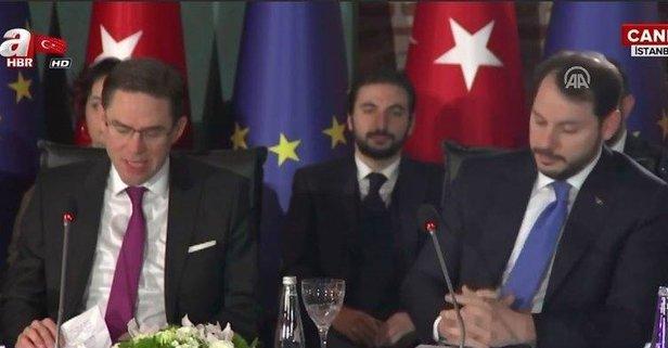 Berat Albayrak'tan AB-Türkiye Ekonomik Diyalog Toplantısı'nda önemli açıklamalar.