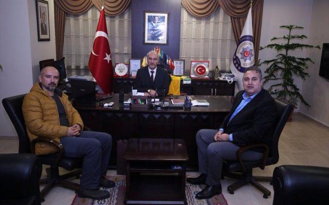 Aa Adana Bölge Müdürü Firik, İl Emniyet Müdürü Okumuş'u Ziyaret Etti.