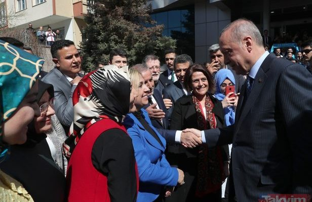 Başkan Erdoğan AK Parti Ankara İl Başkanlığı'nı ziyaret etti.