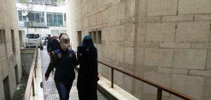 Bursa'da yakalanan DEAŞ'lı kadın terörist Interpol'e teslim edildi.