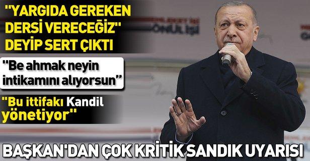 Son dakika: Başkan Erdoğan'dan Ankara Elmadağ'da önemli açıklamalar.
