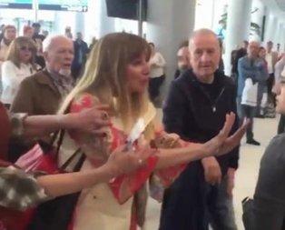 İstanbul Havalimanı'nda yolcu skandalı! Funda Esenç havayolu şirketi çalışanına küfür ve hakaretler savurdu.