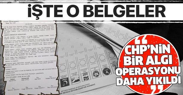 CHP'nin İstanbul seçimleri ile ilgili bir algı operasyonu daha YSK kararlarıyla yıkıldı.