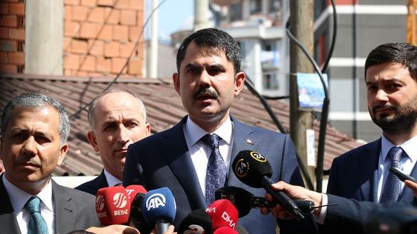 Bakan Kurum'dan Kağıthane açıklaması: Riskli gördüğümüz alanlarda…