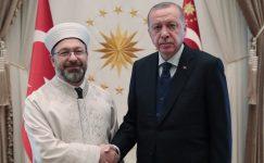 Cumhurbaşkanı Erdoğan, Diyanet İşleri Başkanı Erbaş'ı kabul etti