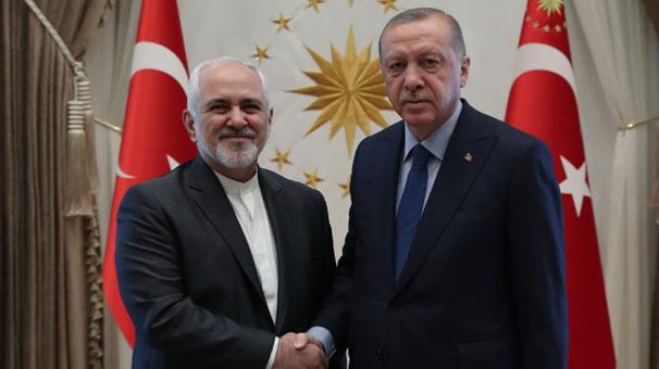Cumhurbaşkanı Erdoğan, İran Dışişleri Bakanı Zarif'i kabul etti.