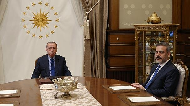 Cumhurbaşkanı Erdoğan, MİT Başkanı Fidan'ı kabul etti.