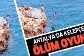 Antalya'da denizde kelepçeli ölüm oyunu.