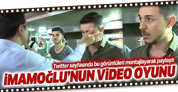 Esnaf ziyaretinde vatandaşı aşağılayan Ekrem İmamoğlu'nun sosyal medyadaki video oyunu.