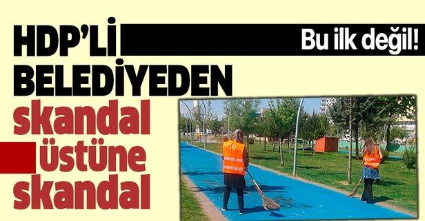 HDP'li belediyede skandal: Kültür merkezinde çalışan kadınları temizlik işçisi yaptılar.