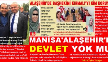 ALAŞEHİR'DE SKANDALLAR BİTMİYOR..
