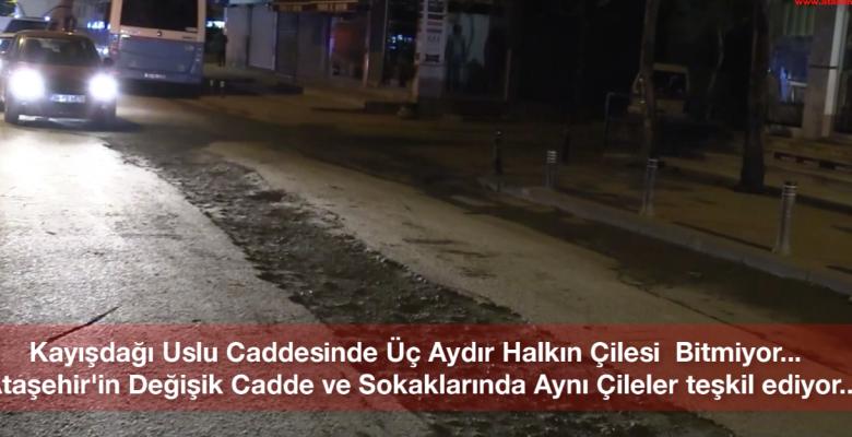 KAYIŞDAĞI YOLU ÇİLE YOLU HALİNE GELDİ.