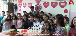 Ataşehir'de 24 Kasım  Bir Öğretmenler Günü; Öğrencilerden Öğretmene  Duygusal Anlar..