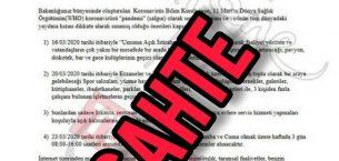 SAĞLIK BAKANLIĞINDA KOCADAN AÇIKLAMA ; PANİK TERÖRİSTLERİ İŞ BAŞINDA