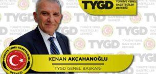 """TYGD Genel Başkanı Akcahanoğlu: Biz Basın Mensupları Gazeteciler. """"UNUTULDUK"""""""